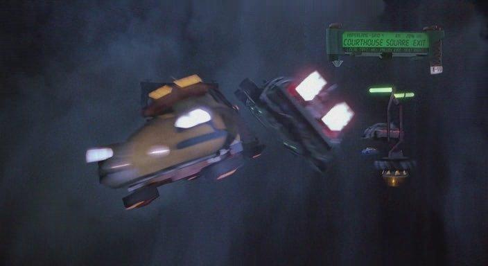 Кадр из фильма Назад в будущее 2 - Летающие машины