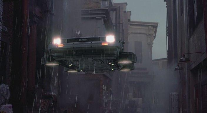 Кадр из фильма Назад в будущее 2 - Управление дождём