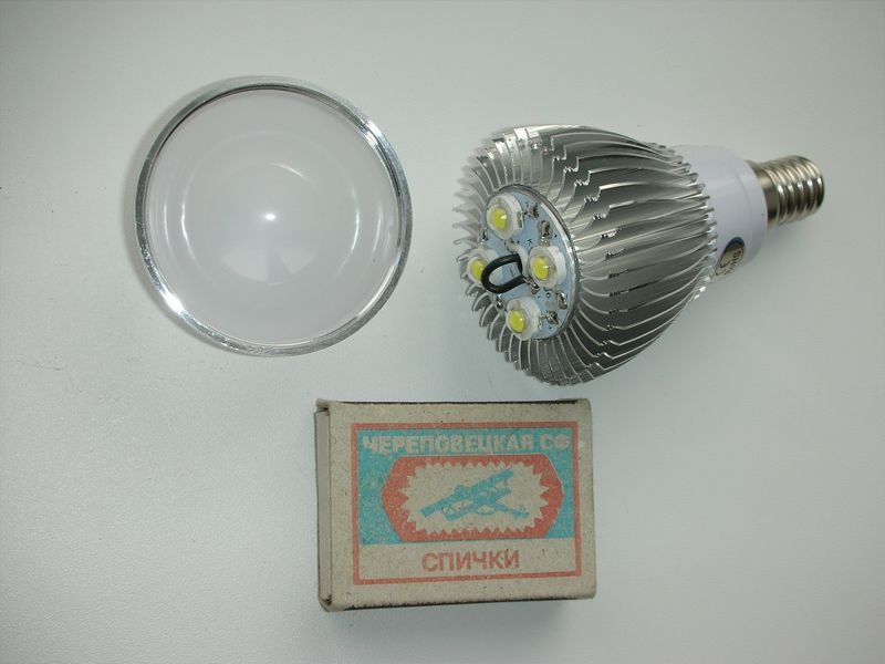 Фото разобранной светодиодной лампы заказанной в китае