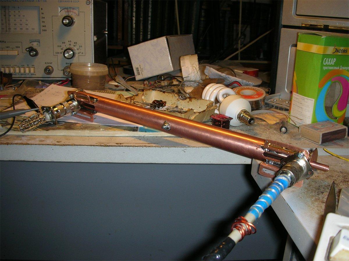 Полуволновый фильтр на коаксиальном резонаторе на 70см (426 - 451 МГц) в сборе - фото